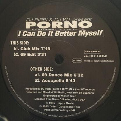 "DJ Pippi & DJ WT Present Porno (9) Featuring Jenna Bare - I Can Do It Better Myself (12"")"