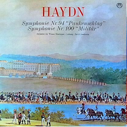 """Haydn* : Orchester Der Wiener Staatsoper, David Josefowitz - Symphonie Nr. 94 """"Paukenschlag"""" / Symphonie Nr. 100 """"Militär"""" (LP, Album, Mono)"""