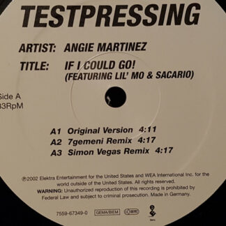 "Angie Martinez Featuring Lil' Mo & Sacario - If I Could Go! (12"", TP)"