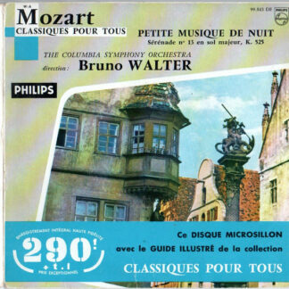 "Mozart* / The Columbia Symphony Orchestra*, Bruno Walter - Petite Musique De Nuit (7"", EP, Boo)"