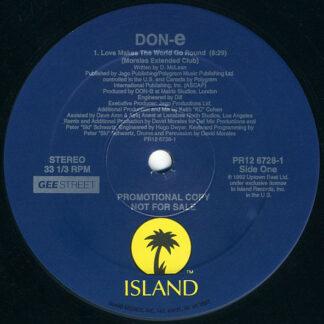 "DON-e - Love Makes The World Go Round (12"", Promo)"