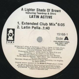 """Lighter Shade Of Brown - Latin Active (12"""", Promo)"""