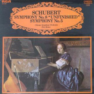"Schubert*, Chicago Symphony Orchestra*, Fritz Reiner - Symphony No. 8 ""Unfinished"" / Symphony No. 5 (LP, RE)"