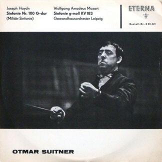 Joseph Haydn, Wolfgang Amadeus Mozart - Gewandhausorchester Leipzig, Otmar Suitner - Sinfonie Nr. 100 G-dur / Sinfonie G-moll KV 183 (LP, Mono)