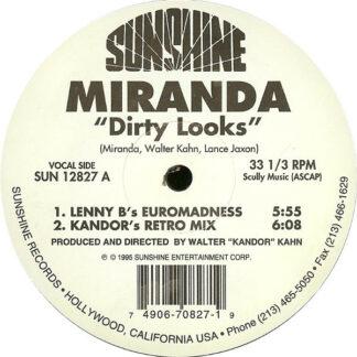 """Miranda (3) - Dirty Looks (12"""")"""