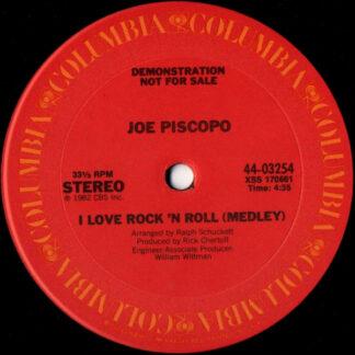 """Joe Piscopo - I Love Rock 'N Roll (Medley) (12"""", Promo)"""