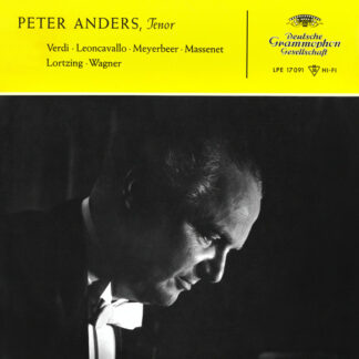 "Peter Anders (2) - Peter Anders, Tenor / Verdi • Leoncavallo • Meyerbeer • Massenet • Lortzing • Wagner (10"", Album, Mono)"
