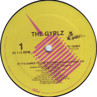 """The Gyrlz - If It's Games You're Playing (12"""")"""