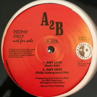 """A2B - Any Love (12"""", Promo)"""