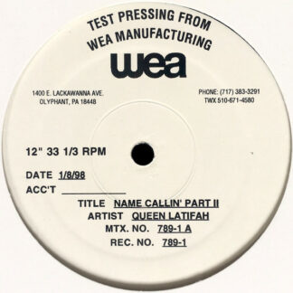 "Queen Latifah - Name Callin' Part II (12"", TP)"