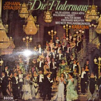 Johann Strauss Jr., Hilde Güden, Erika Köth, Waldemar Kmentt, Walter Berry, Eberhard Wächter, Wiener Philharmoniker, Karajan* - Die Fledermaus (Querschnitt) (LP, Album, Gat)