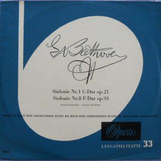 Ludwig van Beethoven, Artur Rother · Berliner Symphoniker - Sinfonie Nr. 1 C-Dur Op. 21 / Sinfonie Nr. 8 F-Dur Op. 93 (LP, Mono)