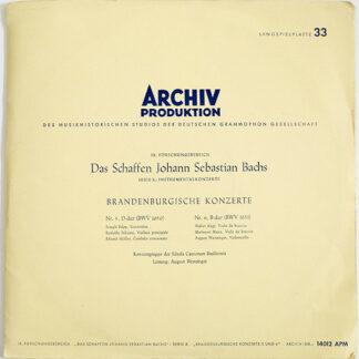 Johann Sebastian Bach, Konzertgruppe Der Schola Cantorum Basiliensis*, August Wenzinger - Brandenburgische Konzerte (Nr. 5 D-Dur, BWV 1050 · Nr. 6 B-Dur, BWV 1051) (LP)