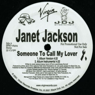 """Janet Jackson - Someone To Call My Lover (2x12"""", Promo)"""