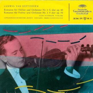 """Ludwig van Beethoven - Igor Oistrach - Romanze Für Violine Und Orchester Nr. 1 G-Dur Op. 40 / Romanze Für Violine Und Orchester Nr. 2 F-Dur Op. 50 (7"""")"""