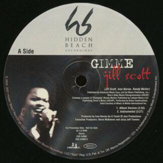 """Jill Scott - Gimme / He Loves Me (Lyzel In E Flat) (Illegal Remix) (12"""", Promo)"""