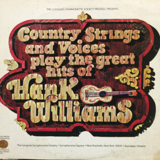Country Strings And Voices - Play The Great Hits Of Hank Williams (LP, Album)