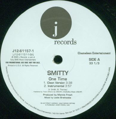 "Smitty (7) - One Time (12"", Promo)"