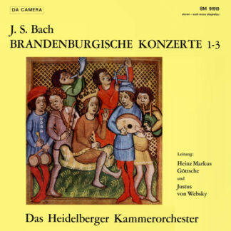 J. S. Bach* - Das Heidelberger Kammerorchester*, Heinz Markus Göttsche, Justus von Websky - Brandenburgische Konzerte 1-3 (LP)