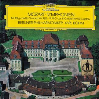 """Mozart*, Berliner Philharmoniker · Karl Böhm - Symphonien Nr. 40 G-Moll (In G Minor) KV 550 / Nr. 41 C-Dur (In C Major) KV 551 """"Jupiter"""" (LP, RE)"""