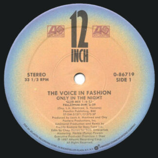 """The Voice In Fashion - Only In The Night (12"""", Single)"""
