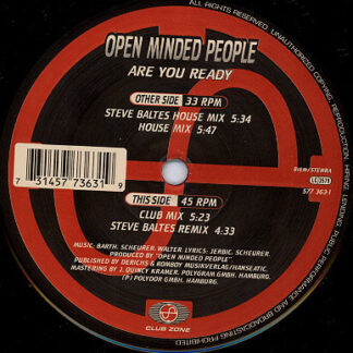 """Open Minded People - Are You Ready (12"""")"""