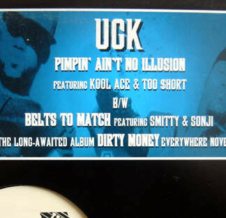 """UGK - Pimpin' Ain't No Illusion / Belts To Match (12"""", Promo)"""