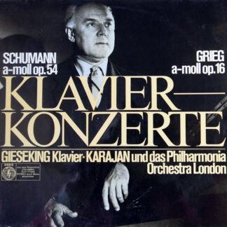 Schumann*, Grieg* - Gieseking* - Karajan*, Philharmonia Orchestra London* - Klavierkonzerte  (LP)