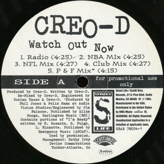 "Creo-D - Watch Out Now (12"", Promo)"