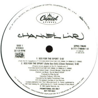 """Channel Live - Sex For The Sport (12"""", Promo)"""