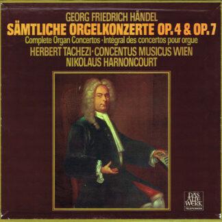 Georg Friedrich Händel ; Herbert Tachezi, Nikolaus Harnoncourt, Concentus Musicus Wien - Sämtliche Orgelkonzerte Op.4 & Op.7 (3xLP, Album + Box)