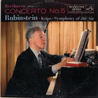 Beethoven*, Rubinstein*, Krips*, Symphony Of The Air - Concerto No. 5 (Emperor) (LP, Album, Mono, Plu)