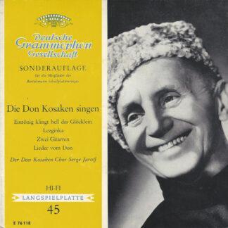 """Der Don Kosaken Chor Serge Jaroff* - Die Don Kosaken Singen (7"""", EP, Club)"""