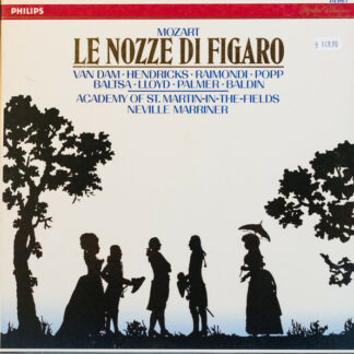 Mozart*  -  Van Dam*, Hendricks*, Raimondi*, Popp*, Baltsa*, Lloyd*, Palmer*, Baldin*, The Academy Of St. Martin-in-the-Fields, Sir Neville Marriner - Le Nozze Di Figaro (3xLP + Box)