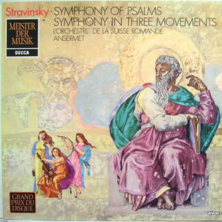 Igor Stravinsky, L'Orchestre De La Suisse Romande, Ansermet* - Symphony Of Psalms / Symphony In Three Movements (LP)