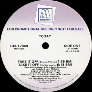 """Today - Take It Off (12"""", Promo)"""