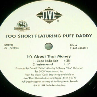"""Too Short Featuring Puff Daddy - It's About That Money (12"""")"""