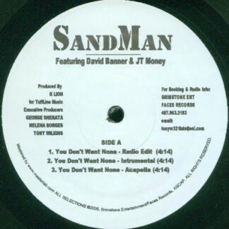 """SandMan (10) - You Don't Want None (12"""")"""