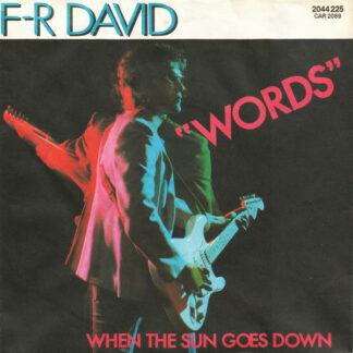 "F-R David* - Words (7"", Single, Styrene)"