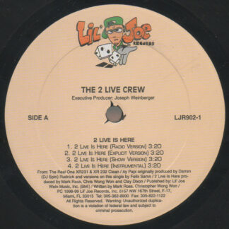 "The 2 Live Crew - 2 Live Is Here / Ay Papi (12"")"