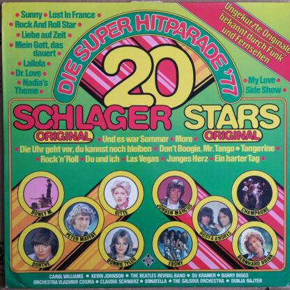 Various -  20 Schlager - 20 Stars - Die Super Hitparade '77 (LP, Comp)