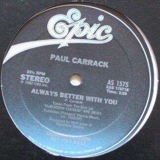 """Paul Carrack - Always Better With You (12"""", Promo)"""