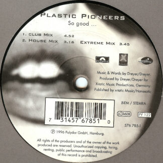 "Plastic Pioneers - So Good... (12"")"