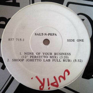"Salt-N-Pepa* - None Of Your Business (12"", Promo)"