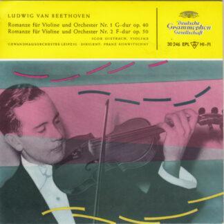 """Ludwig van Beethoven - Igor Oistrach - Gewandhausorchester Leipzig Dirigent: Franz Konwitschny - Romanze Für Violine Und Orchester (7"""", EP, Mono, RP)"""