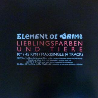 "Element Of Crime - Lieblingsfarben Und Tiere (10"", Maxi)"