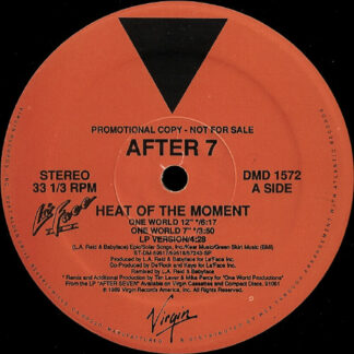 """After 7 - Heat Of The Moment (12"""", Promo)"""