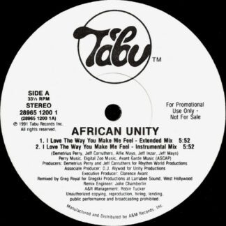 "African Unity - I Love The Way You Make Me Feel (12"", Promo)"