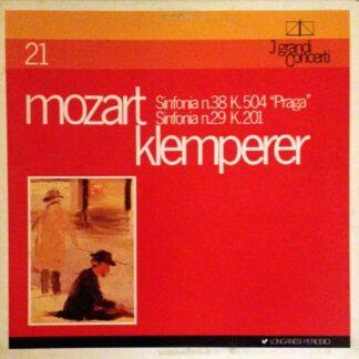 """Mozart*, Klemperer* - Sinfonia N.38 K.504 """"Praga"""". Sinfonia N.29 K.201 (LP)"""