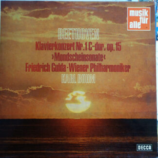 Beethoven* - Friedrich Gulda, Wiener Philharmoniker, Karl Böhm - Klavierkonzert Nr. 1 C-Dur, Op. 15, >Mondscheinsonate< (LP, Comp, Mono)